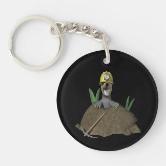 Groundhog Double-Sided Round Acrylic Keychain