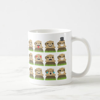 groundhog emojis coffee mug