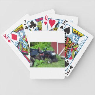 Groundhog en el cortacésped baraja de cartas bicycle