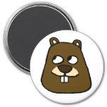 Groundhog Face Magnet