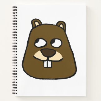 Groundhog Face Notebook