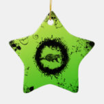 Groundhog Grunge Double-Sided Star Ceramic Christmas Ornament