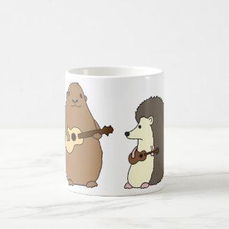 Groundhog, Hedgehog, and Ukuleles Mug