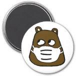 Groundhog in Face Mask Magnet