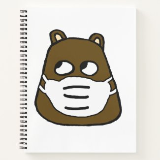Groundhog in Face Mask Notebook
