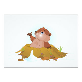 "Groundhog Invitations 5"" X 7"" Invitation Card"