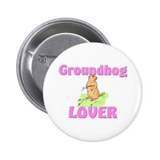 Groundhog Lover Button