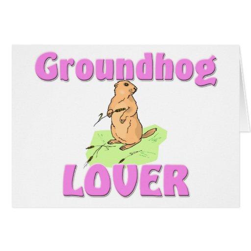 Groundhog Lover Card