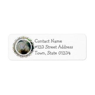 Groundhog Mailing Label
