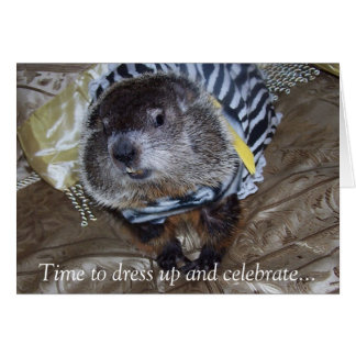 Groundhog Maude Birthday Card