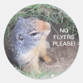 Groundhog No Flyers Please Sticker
