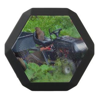 Groundhog on a Lawn Mower Black Bluetooth Speaker