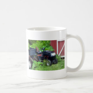 Groundhog on a  Lawn Mower Coffee Mug