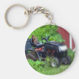 Groundhog on a Lawn Mower Keychain