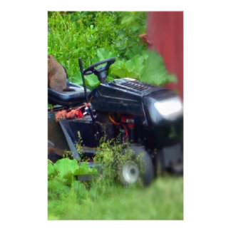 Groundhog on a Lawn Mower Stationery