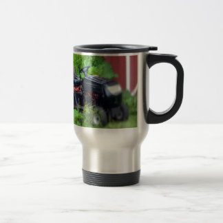 Groundhog on a  Lawn Mower Travel Mug