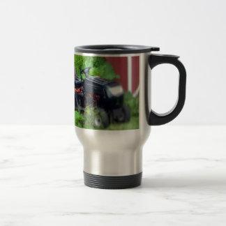 Groundhog on a  Lawn Mower Travel Mug