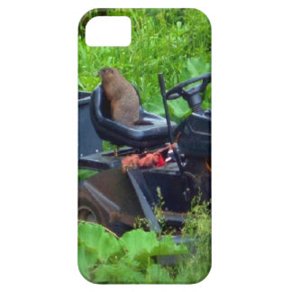 Groundhog on Lawn Mower iPhone SE/5/5s Case