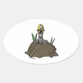 Groundhog Oval Sticker