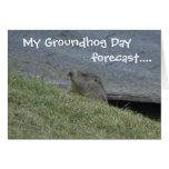 Groundhog previo - la tarjeta del día de la marmot