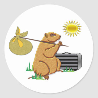Groundhog Runs Away Sticker