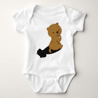 Groundhog Shadow Baby Bodysuit