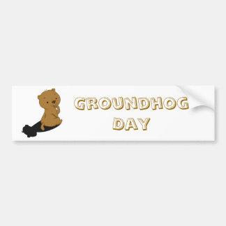 Groundhog Shadow Car Bumper Sticker