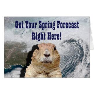 Groundhog Spring Forecast Card