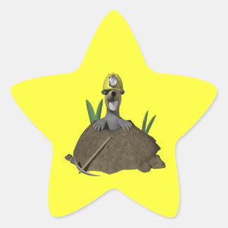 Groundhog Star Sticker