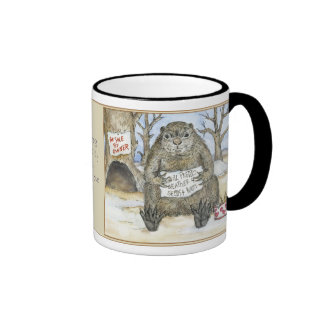 Groundhog Will Predict Weather for Seeds and Nuts Ringer Coffee Mug