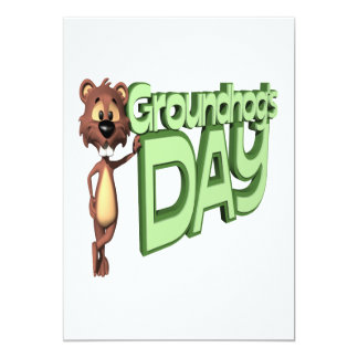 Groundhogs Day 5x7 Paper Invitation Card