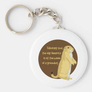 Groundhog's Day Basic Round Button Keychain