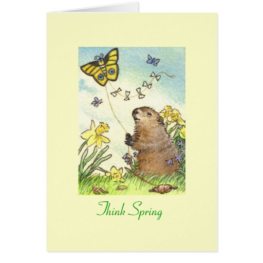 Groundhog's day card note card