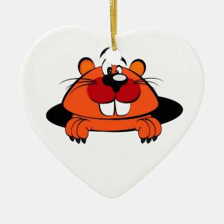 Groundhog's Day Ceramic Ornament