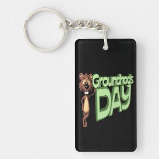 Groundhogs Day Double-Sided Rectangular Acrylic Keychain