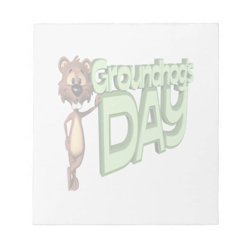 Groundhogs Day Memo Notepads