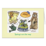 Groundhog's Day paper doll card Note Card