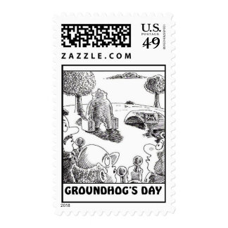 GROUNDHOGS DAY POSTAGE STAMP