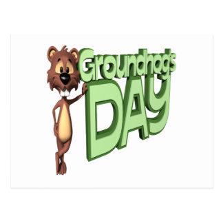 Groundhogs Day Postcard