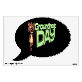 Groundhogs Day Wall Decal