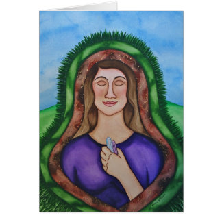 Grounding and healing from the Earth Greeting Card