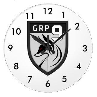 Group 9 clock coat of arms logo