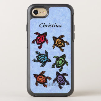 Group Abstract Turtles Brightly Colored shells OtterBox Symmetry iPhone 7 Case
