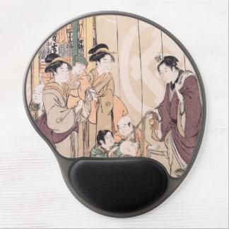 Group before the Echigo-ya Dry-goods Shop ukiyo-e Gel Mouse Pad