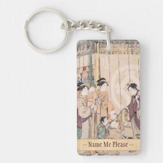 Group before the Echigo-ya Dry-goods Shop ukiyo-e Keychain