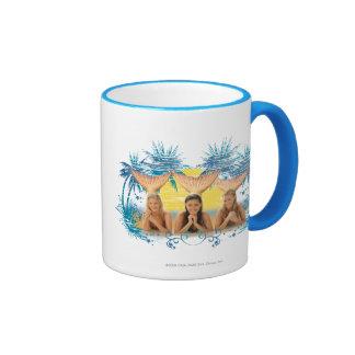 Group Blue Palm Tree Graphic Ringer Mug