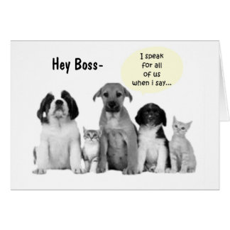 """GROUP BOSS'S BIRTHDAY HUMOR"""" DOGS DOGS DOGS CARD"""