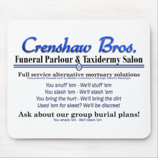 Group Burial Plan Mouse Pad