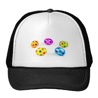 Group colorful painted chicken easter eggs trucker hat