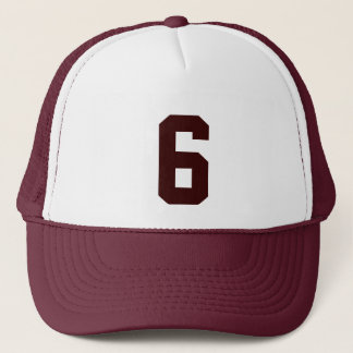 Group custom number six 6 brown color trucker hat